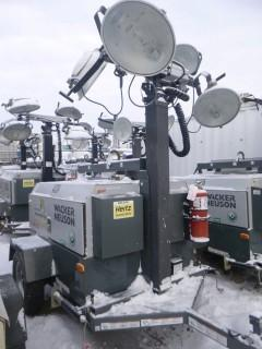 2014 Wacker Neuson LTW20 20Kw, Showing 0252 Hrs, S/A Light Tower C/w (4) Lights, 4Cyl Diesel, Pintle Hitch, Vertical Mast Hyd Extension VIN 5XFLW0514EN003745. Unit 4124
