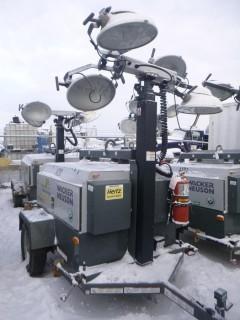 2014 Wacker Neuson LTW20 20Kw, Showing 1732 Hrs, S/A Light Tower C/w (4) Lights, 4Cyl Diesel, Pintle Hitch, Vertical Mast, Hyd Extension VIN 5XFLW0512EN003811. Unit 4120