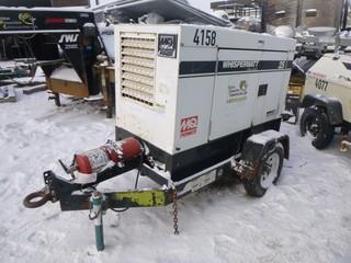 MQ Whisperwatt 25KVA, Generator C/w 4Cyl Diesel, Pintle Hitch. Unit 4158