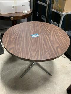 """Wood 3ft X 28.5"""" Tall Round Table"""
