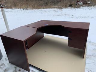 L-Shaped Wood Office Desk