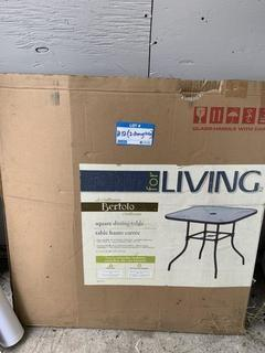 """(2) 32"""" X 32"""" X 28"""" Square Dining Tables w/ Glass Tops"""