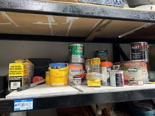 Qty Of Used Paint And Misc Supplies