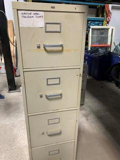 Qty Of (3) Assorted Size Filing cabinets