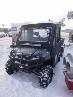 2016 Polaris Ranger 800 Side by side, Showing 1030 Miles C/w 2Door Cab, (6) Wheeled. VIN 4XARAA769GT135840