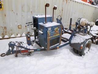 Sherman Reilly 12ft X 8ft Cable Reel Trailer C/w Kohler Motor, Pintle Hitch