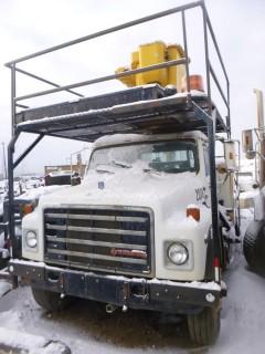 1986 International Bucket Truck C/w Job Box, Showing 136,576 Kms VIN 1HTLDTVR0GHA49551. Unit 2018