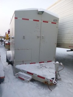 Custom Built 12ft Enclosed Heating Trailer C/w Isuzu Diesel Motor, (2) Frost Fighter Diesel Heaters, Pintle Hitch. Unit 4171