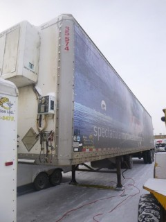 1997 Mond 48 Ft Reefer Trailer, T/A C/w Thermo King Heater, Contents Incl, VIN 2MN122346V1144915. Unit 4109