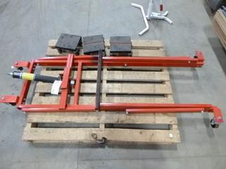 Snow Mobile Lift and Dolly System (750lb), c/w 3 ski dolly's