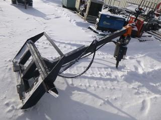 Bobcat Skid Steer Auger Attachment, Hydraulic Driven, Model 15C, S/N 944236833