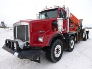 1998 Kenworth T800 T/A T/A Boom Truck, C/w N14 Plus Cummins-460E, Eaton RTL00167/88 18 Speed Manual, 1997 Palfinger Picker PK52000, Model H9780670, (PTO  4915 Hours), Showing 016980.5 KMS, Showing 8890 Hours, VIN 1XKDP2TX5WR951014