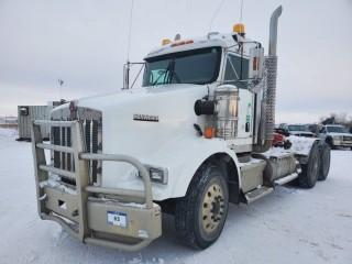 2012 Kenworth T800 T/A Truck Tractor C/W Cummins 1600, 525 HP, 18 Speed, A/R 46,000LB Rears, 8 Bag Air Suspension,Showing 460,050 KMS, 18,701.4 Hours VIN # 1XKDD40X1CR955808