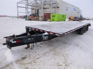 "2005 Trailtech TD-310 Tag Trailer, 34,500LB, 31' Overall, 8'6"" Wide, Tri Axle Dually, C/w  26' Deck, 5' Beaver Tail, Spring Susp, Air Brake, Flip Over Ramps, Pintle Hitch, VIN 2CU3UJTR752016865"