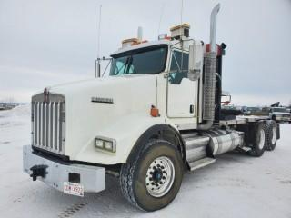 2014 Kenworth T-800 Winch Truck Tractor, Cummins ISX Diesel, 525HP, Eaton 18 Speed Manual, C/w A/C, PTO, Showing 76455 KM, 4843.8 Hours, VIN 1XKDD40X5ER968158