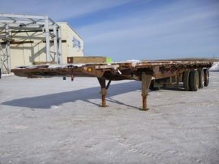 1999 Lode King 46' Tri-Axle Oil-Field Float, C/w 44' Deck, 8'6' Wide, A/R Suspension, Sliding Axle, Live Roll, VIN 2LDPF4537X9031298