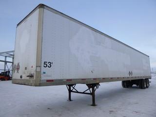 2006 Trailmobile O1J 53' Van Trailer T/A, C/w A/R Susp, Sliding Axle, VIN 2MN01JAH261004165