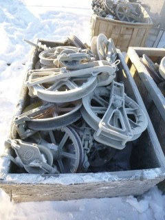 Qty Of Assorted Size Pulleys