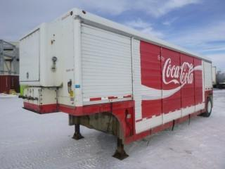 1998  28ft Hackney Beverage Trailer,  C/w Espar Airtronics Diesel Air Heater, (6) Bays Per Side, VIN 1HHRTX115WM000279 * Note Battery Missing, Some Doors Dented*