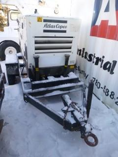 2003 Atlas Copco 20Kva 16Kw Single And 3-Phase Trailer Mounted Generator, Showing 23532hrs. *Note: Generator Damage*