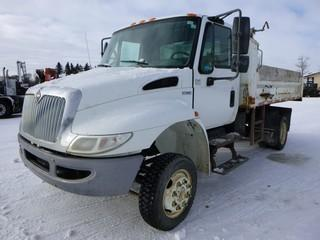2010 INTERNATIONAL 4300 M7 Dump Truck, Maxxforce Diesel 4x4, C/w Hitch for Trailer, Box 12'x 2',  Showing 58950 KM, Showing 4296 Hours, VIN 1HTMZSKM3AT192953