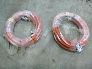 "(2) 50' - 1"" Red Devil Steam Hose, Max 250 PSI, Max 232Degree C (450 Degree F)"