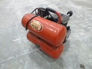 King Canada Performance Plus Air Compressor, Model 8469,  2HP Twin Tank, 129V, Single Phase (O-S-N-F)