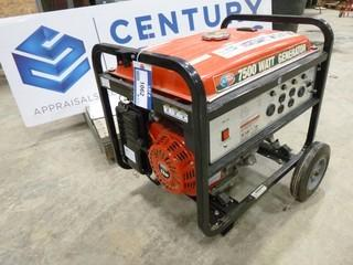 All Power 7500 Watt Generator, 25 Ltd, Model DF6500H, SN DJ090406206 *NOTE: Motor Runs, Generator Doesn't Work* (O-S-N-F)