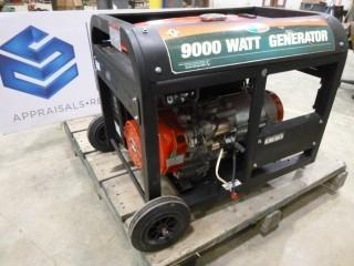 All Power 9000 Watt, 30 Lts, Model DFD9000H, SN DJ09103010213 Generator *NOTE: Motor Runs, Generator Doesn't Work, Control Panel Missing* (O-S-N-F)