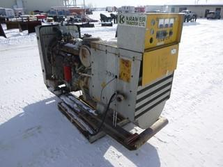 Caterpillar Tractor Generator,CAT 3304 Engine, 105 Lava, 480 Volt, S/N 4B 7910. *NOTE: RUNS As Per Owner.*