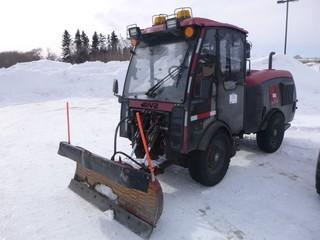 MV2 Snow Pusher/Sweeper, MacLean Engineering Municipal Tractor, CAT 4-Cyl Diesel, Showing 7922 Hrs, 4x4 Articulated Steer c/w Snow Blade 4 Way, Heated/AC Cab, SN# 0311BM-070