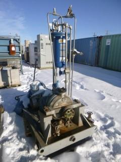 2012 Skid Mounted John Crane Lemco 1500PSI Water Cooled Heat Exchanger C/w Sulzer Pilot Recirculation Pump