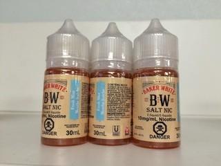 Lot of (12) Baker White Vape Juice Fresh Mint, 10mg/ml Nicotine.