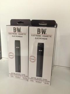 Lot of (10) Baker White Electronic Cigarette Starter Kits.