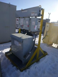 Delta 600V 3-Phase Dry Type Transformer C/w 4HD Safety Switches