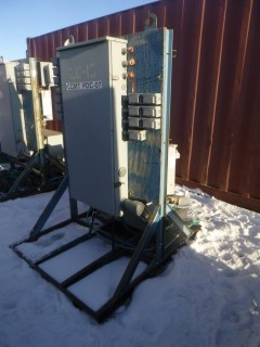 Cutler Hammer Power Distribution Assembly C/w 3-Phase 200A Breaker Box And Rex 600V 3-Phase Transformer