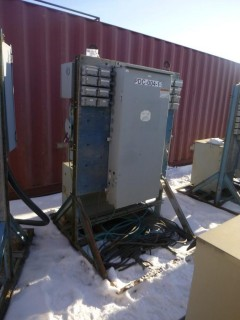 Cutler Hammer Power Distribution Assembly C/w 200A 600V Breaker Box And 3-Phase Delta Dry Type Transformer