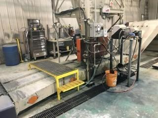 Ring-R 1416T Paper Auger S/N 73379 c/w Recovery Hopper/Cyclone. *Dismantled in Transportable Sections & Ready for Loading at Buyers Expense*