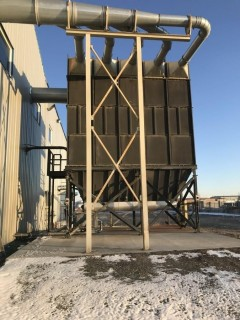 Donaldson DLMC 5/6/15 9 Slot Dust Collector w/Fike Vents S/N 3474290 L1. *Dismantled in Transportable Sections & Ready for Loading at Buyers Expense*