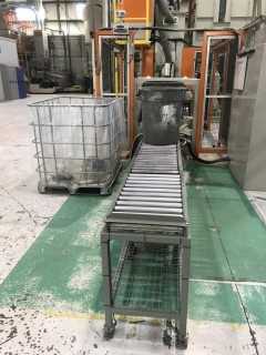 """Roller/Conveyor Table Approximately 18""""x10'."""