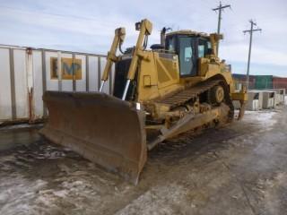 2008 CAT D8T Crawler Tractor, C/w A-Dozer, 4 Barrel Multi Shank Ripper, A/C Cab, Joystick Controls, SBG, U/C 15%. Showing 12953 Hrs, S/N LHX21832