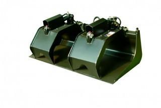 "NEW Industrial Grapple Bucket, 72"" Width Skid Steer Attachment"