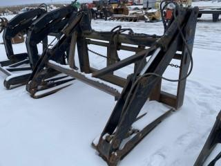 """Wheel Loader Pipe Grapples, Fits IMAC, Center to Center 28.5"""""""