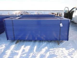 UNUSED 10'x6' Blue Construction Fence, 10 Panels, 100 Linear Feet