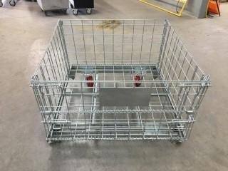 NEW 4'x4'x3' Wire Mesh Rack w/ HD Caster Kit