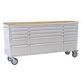 "NEW 72"" Stainless Steel 15 Drawer Tool Bench"