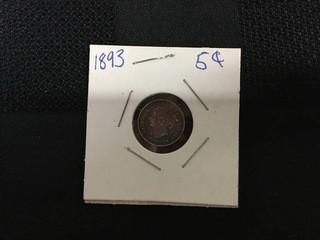 1893 Five Cent.