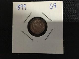 1899 Five Cent.