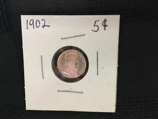 1902 Five Cent.