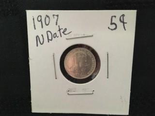 1907 Five Cent.